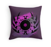 Retro Vinyl Records - Vinyl With Paint and Tribal Spikes - Music DJ TShirt Throw Pillow