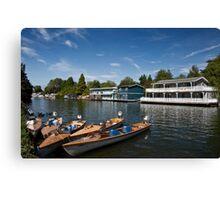 Hampton Houseboats Canvas Print