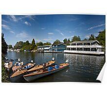 Hampton Houseboats Poster
