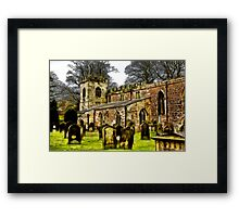 St Peters Church - Croft-on-Tees . Framed Print