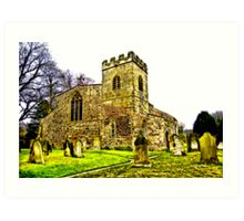 St Peters Church - Croft-on-Tees .#2 Art Print