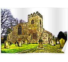 St Peters Church - Croft-on-Tees .#2 Poster