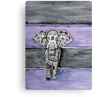 Elephant Tribal Zentangle Canvas Print