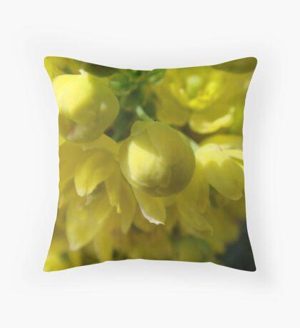 Yellow Wallart #2 Throw Pillow