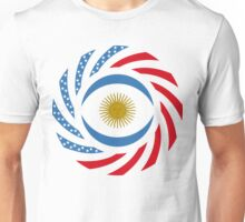 Argentinian American Multinational Patriot Flag Series Unisex T-Shirt