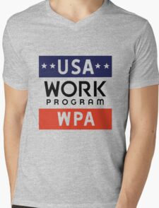 Works Progress Administration Put People to Work (WPA) Mens V-Neck T-Shirt