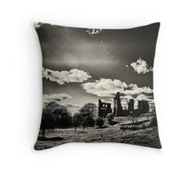 Ghosts of history on the landscape Throw Pillow