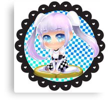 Miss Monochrome Chibi Canvas Print