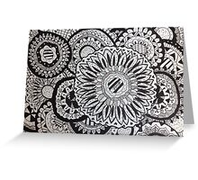 Flower Zentangle Greeting Card
