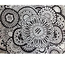Flower Zentangle Photographic Print