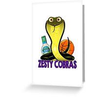 Zesty Cobras Greeting Card