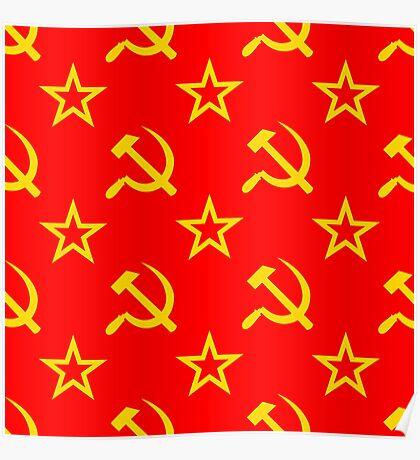 Communism - Soviet Union - Hammer Sickle Star Poster