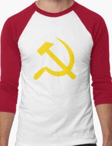 Communism - Soviet Union - Hammer Sickle Star Men's Baseball ¾ T-Shirt
