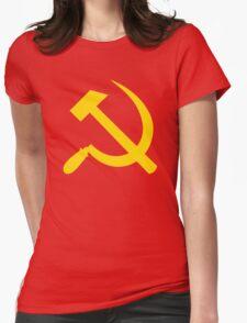 Communism - Soviet Union - Hammer Sickle Star Womens Fitted T-Shirt
