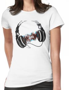 Headphones Womens Fitted T-Shirt