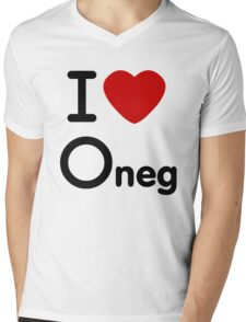 i heart o neg  Mens V-Neck T-Shirt