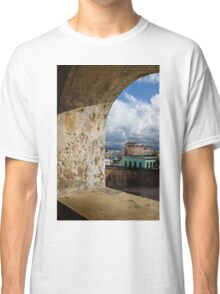 Caribbean Colors of San Juan, Puerto Rico From a Window of San Cristobal Castle Classic T-Shirt