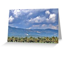 Clouds rolling over the hills. Greeting Card