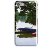 Lake with Canoes iPhone Case/Skin
