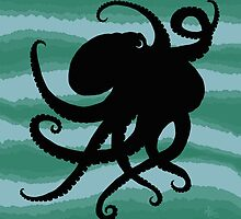 Octopus Silhouette by Amber Marine