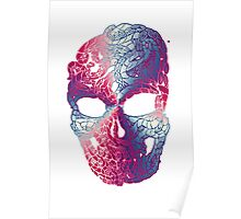 TentaSKull Red White and blue Poster