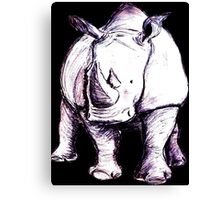 Rhino (Colour) Canvas Print