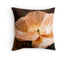 Sipping Sunny Drops Throw Pillow