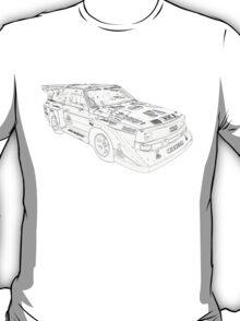 Audi Quatro Rally Car T-Shirt