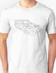 Audi Quatro Rally Car Unisex T-Shirt