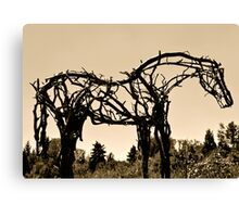 Wooden Horse at Sunset Canvas Print
