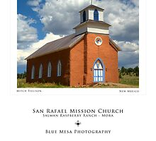 San Rafael Mission Church (poster version) by Mitchell Tillison