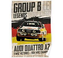 Group B Legends - Audi Quattro A2 Poster