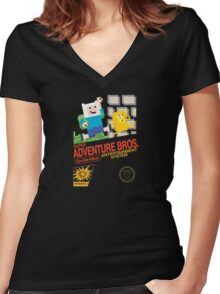 Super Adventure Bros! Women's Fitted V-Neck T-Shirt
