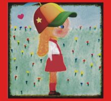 Fashionista Gabby Hopscotch with Hat and Heart One Piece - Long Sleeve