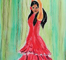 The Flamenco Dancer by GEORGE SANDERSON