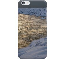 Lily Pad Ice Shines in the Silver Storm Light  iPhone Case/Skin