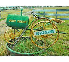 John Deere Mailbox Photographic Print