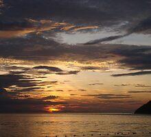 Sunset on the Pulau Perhtian Besar (Large Perhentian Island) by oliverjridgill