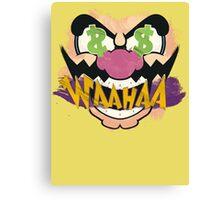 """Wario """"WAAHAA!"""" Digital Paint Canvas Print"""