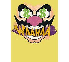 "Wario ""WAAHAA!"" Digital Paint Photographic Print"