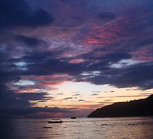 Sunset in the Perhentian Islands, Malaysia. by oliverjridgill