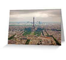 View of the Eiffel Tower Greeting Card