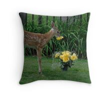 Time to stop and smell the Roses Throw Pillow
