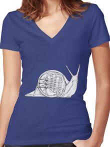 Franny's Snail Women's Fitted V-Neck T-Shirt