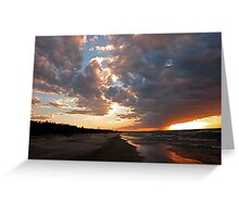 Pinery Park sunset Greeting Card