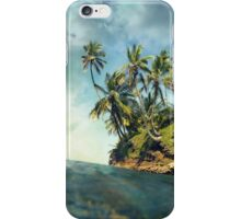 Coconut trees with sunlight viewed from sea surface iPhone Case/Skin