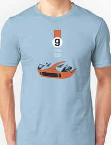 1968 24 hours of Le Mans winning Ford GT40 #9 T-Shirt