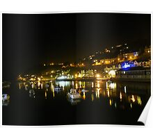 Cornwall: Looe by Night Poster