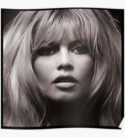 Brigitte Bardot's face up close poster Poster
