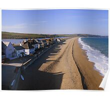 Devon: Shadows on the Beach at Torcross Poster